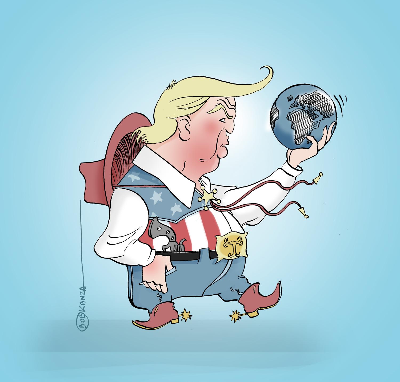 Trump, 45e président des USA 2016 © Bob Kanza