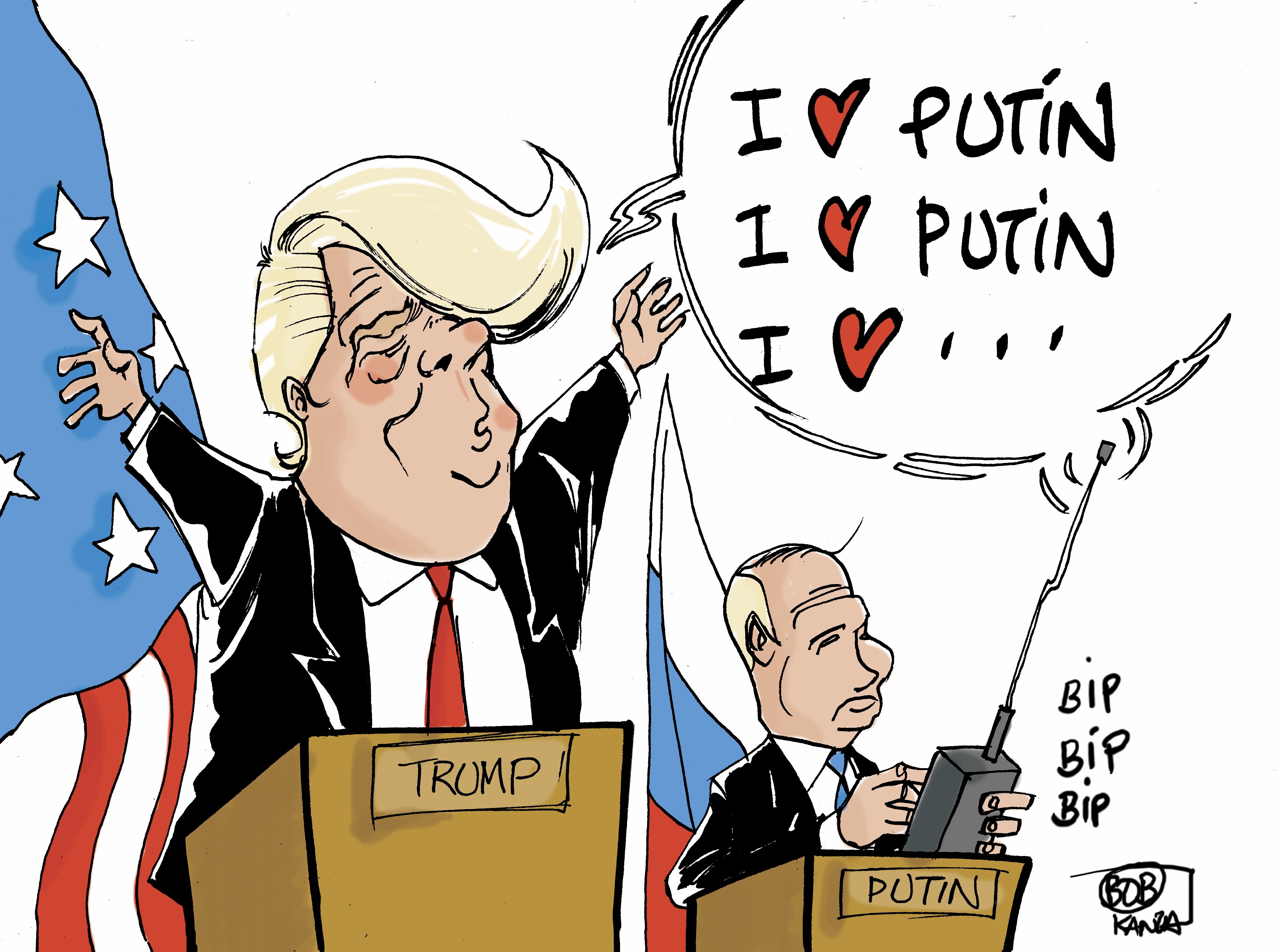 Trump-Putine, histoire d'amour © Bob Kanza