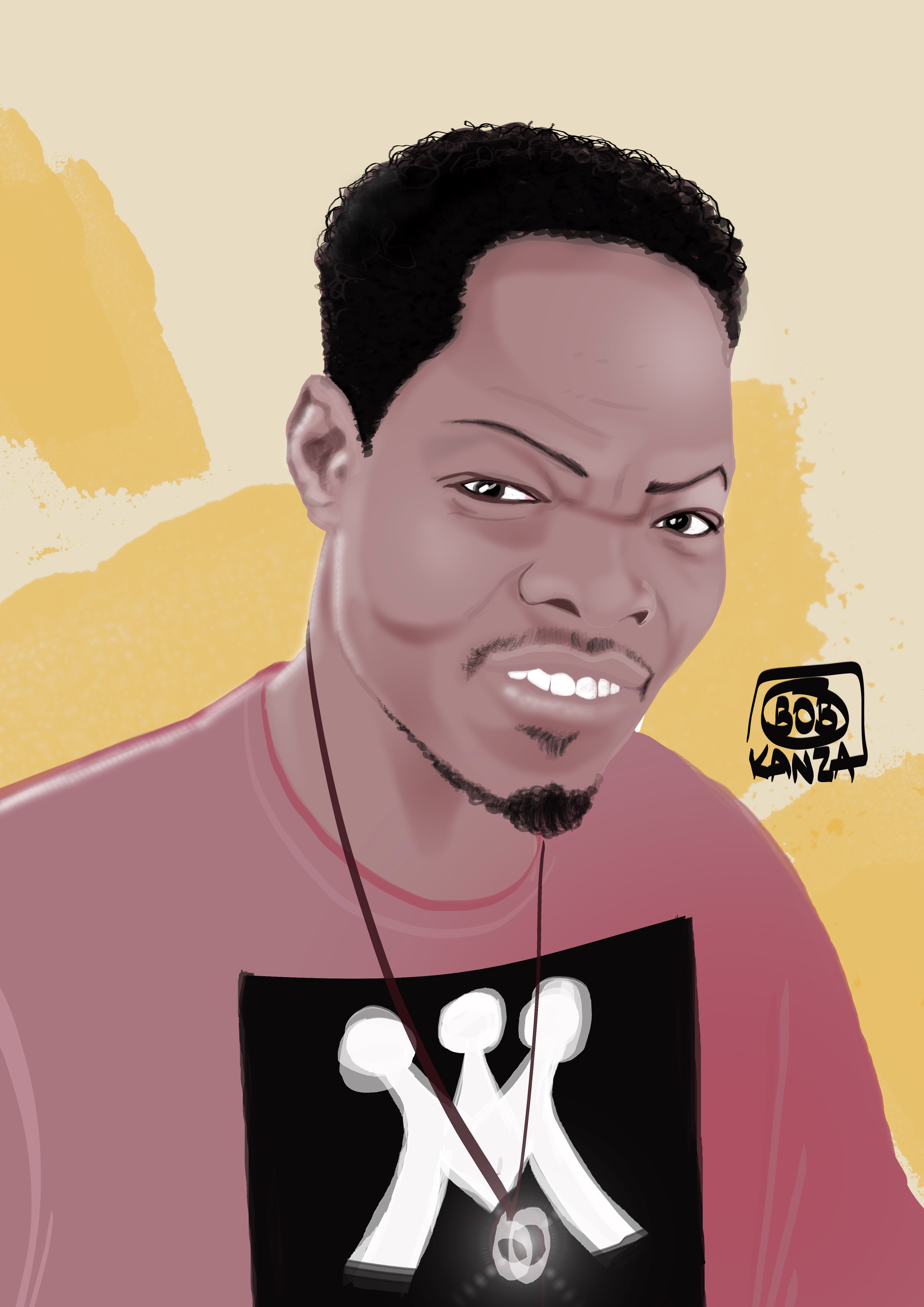 Portrait digital art Africain - Bob Kanza