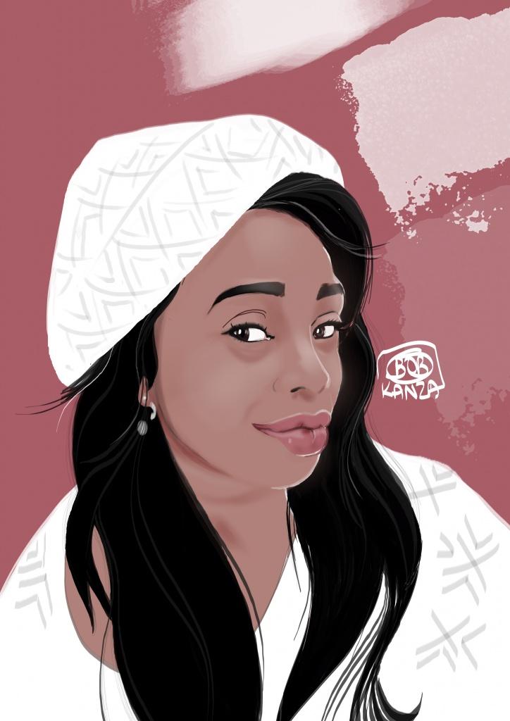 Portrait Dessin Femme black - Bob Kanza