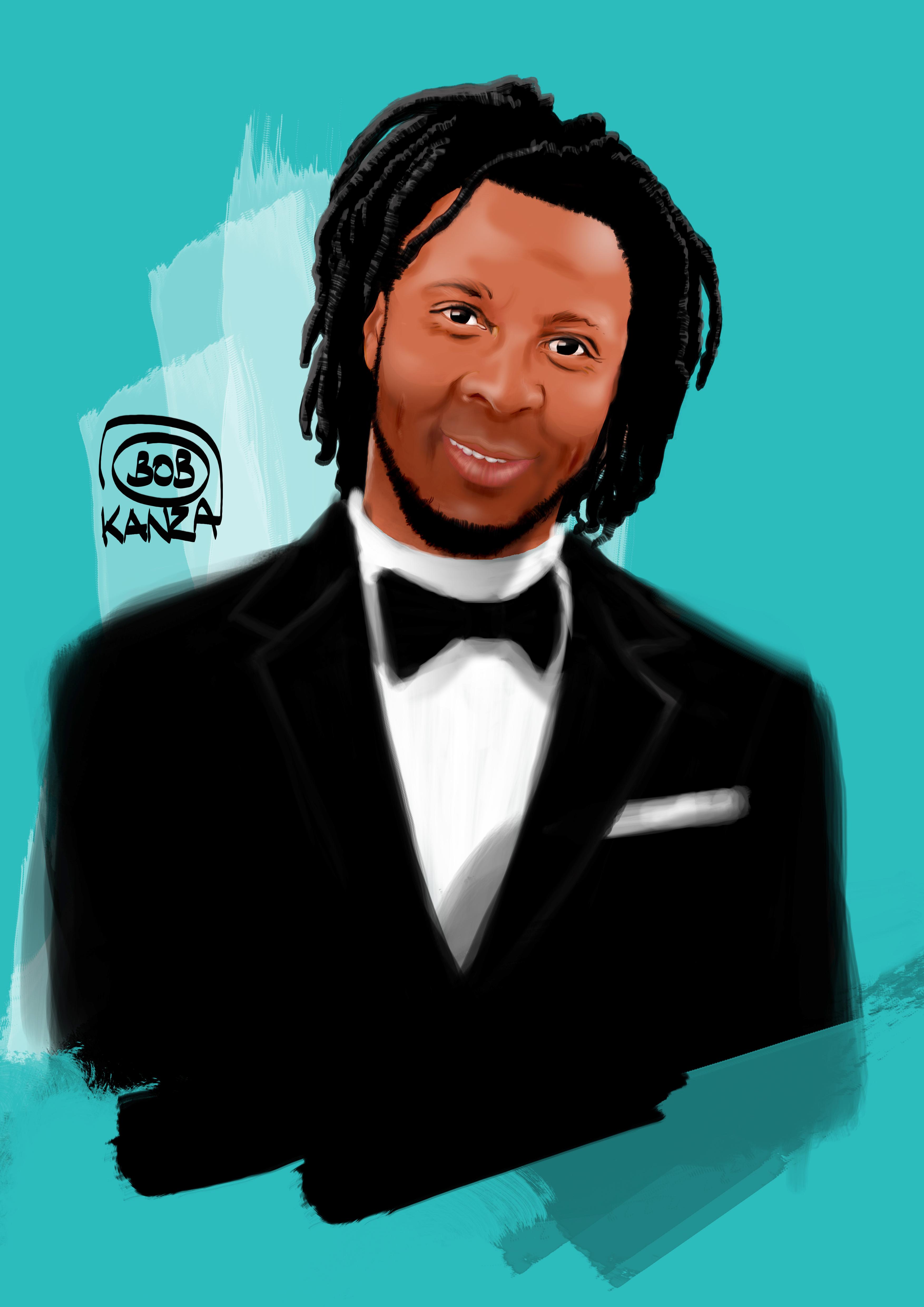 Portrait Digital Art bel homme Africain - Bob Kanza