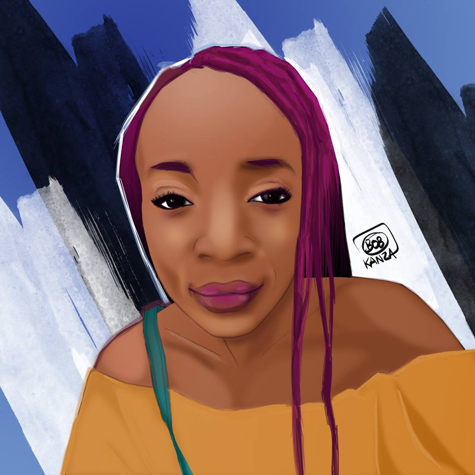 Portrait digital art Congolaise - Bob Kanza