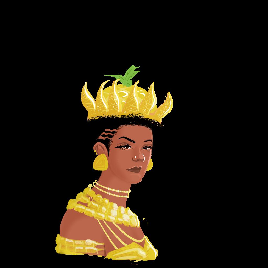 Reine Jinga dessin Bob Kanza