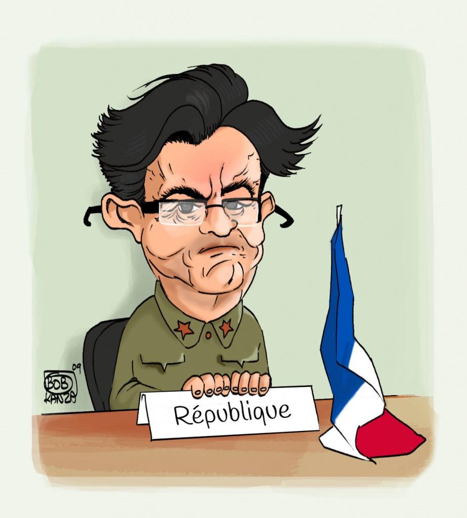 Caricature Jean-Luc Mélonchon La République c'est moi - Bob Ka