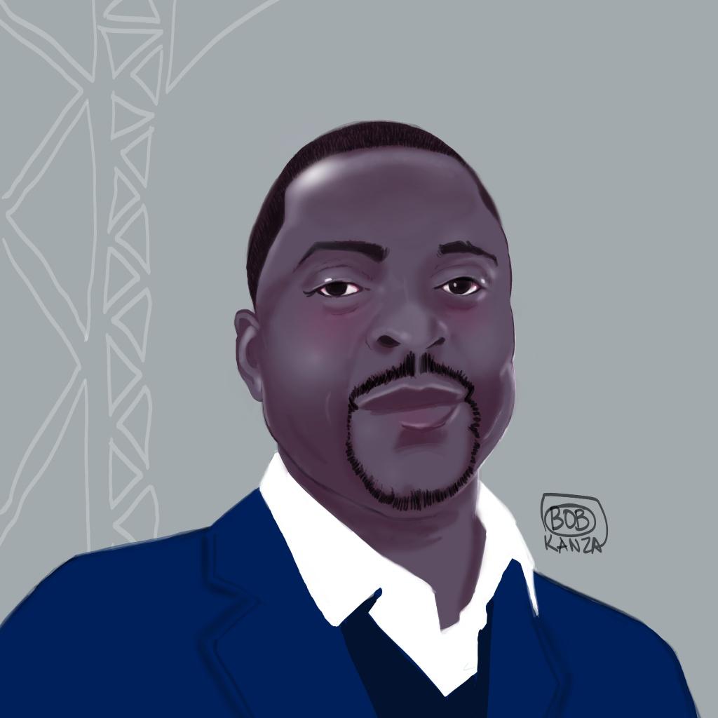 Bob Kanza autoportrait caricature