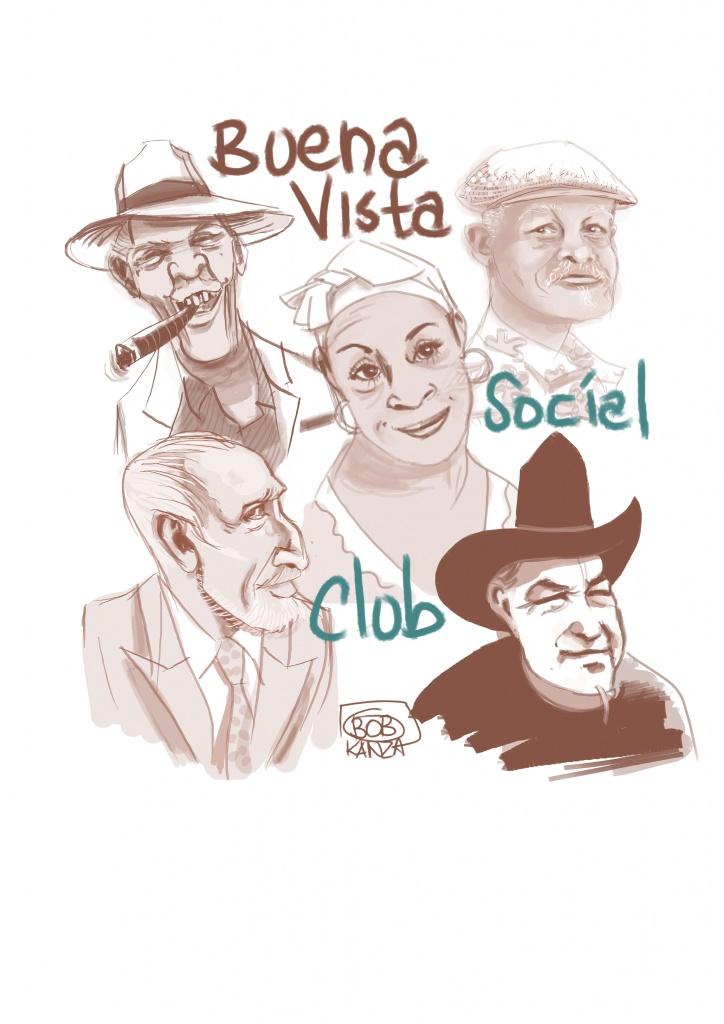 Buena vista social club - caricature © Bob Kanza