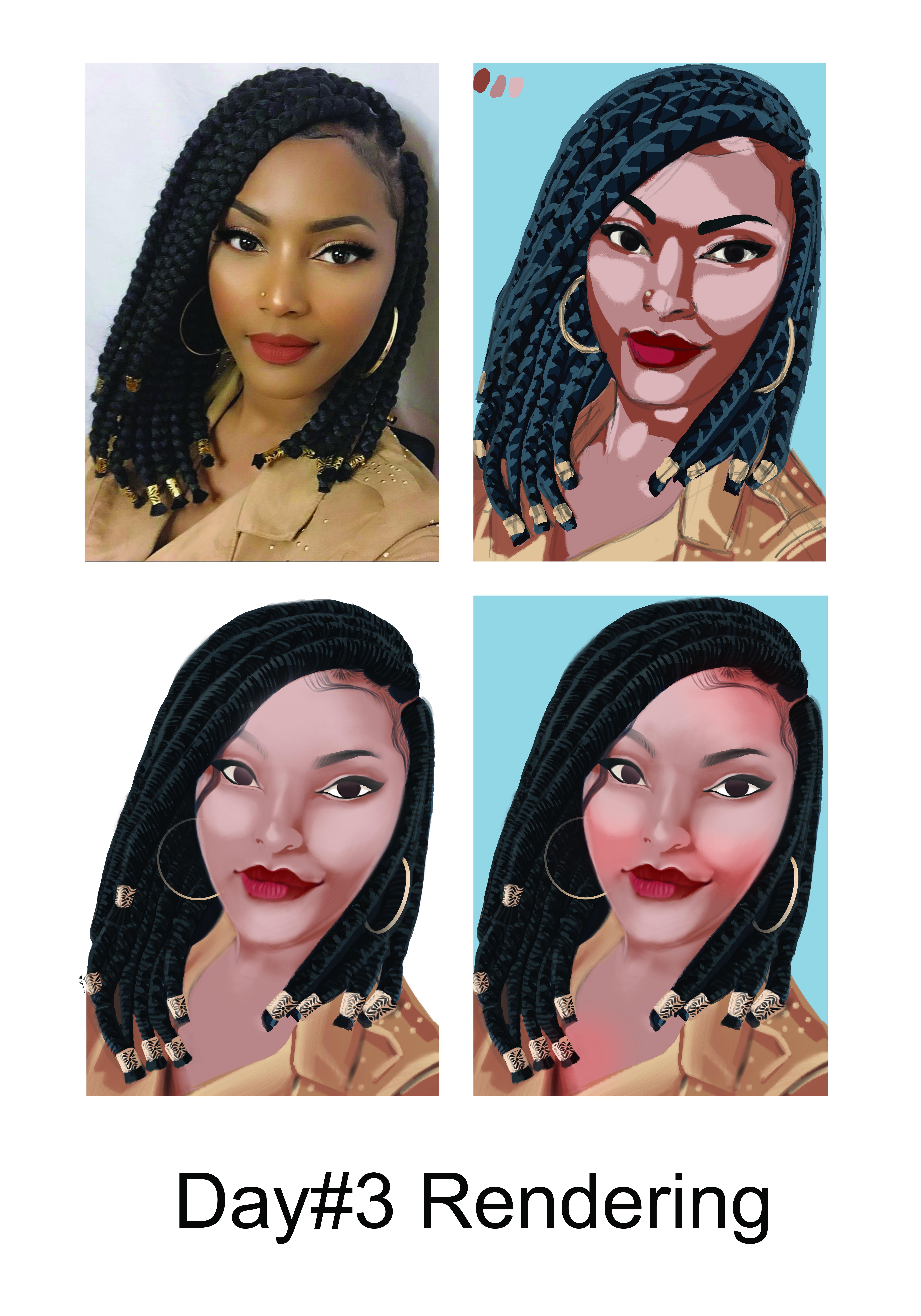 Afro Hair Portrait digital © Bob Kanza