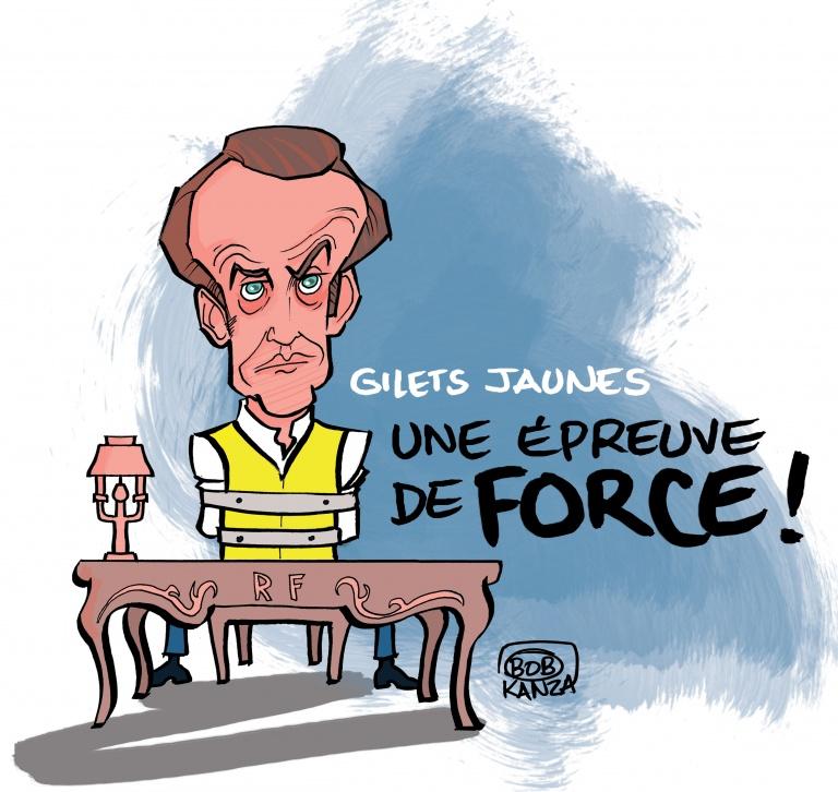 Macron, Gilet Jaune © Bob Kanza