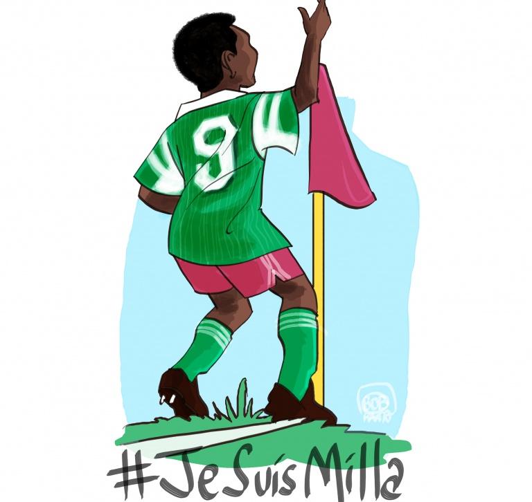 #jesuismila ? non je suis Milla - caricature roger milla - © Bob Kanza