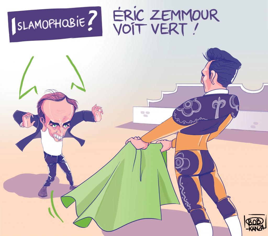 Eric Zemmour et le Vert Islam © Bob Kanza