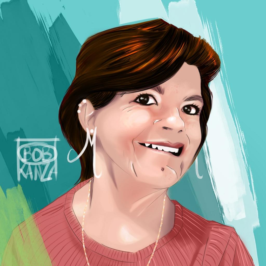 Portrait femme brune @ Bob Kanza