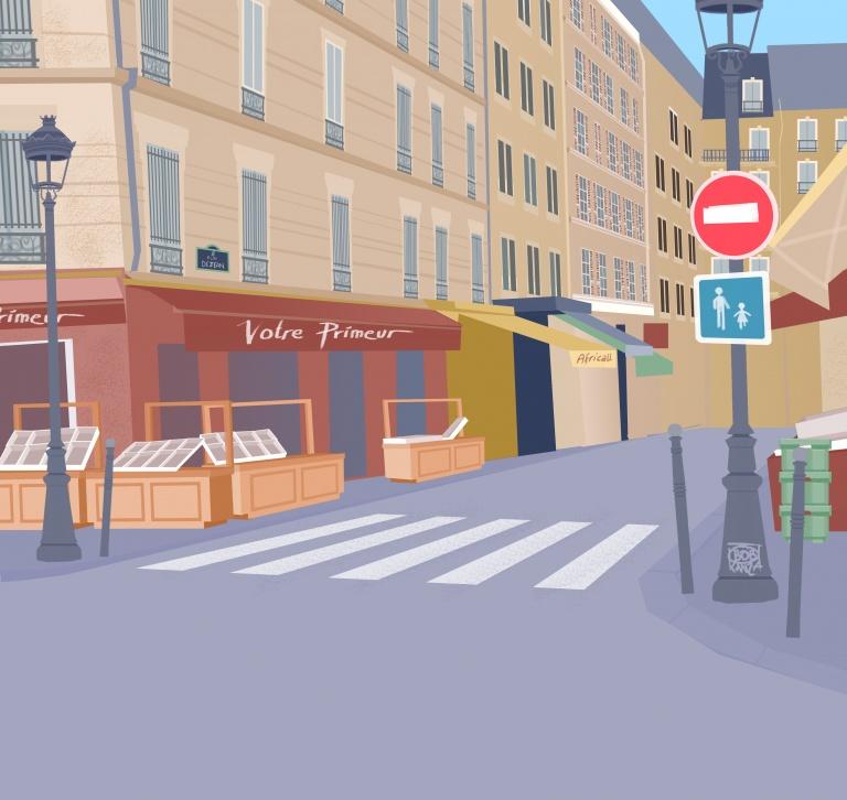 Rue Dejean, Métro Chateau Rouge Paris © Bob Kanza