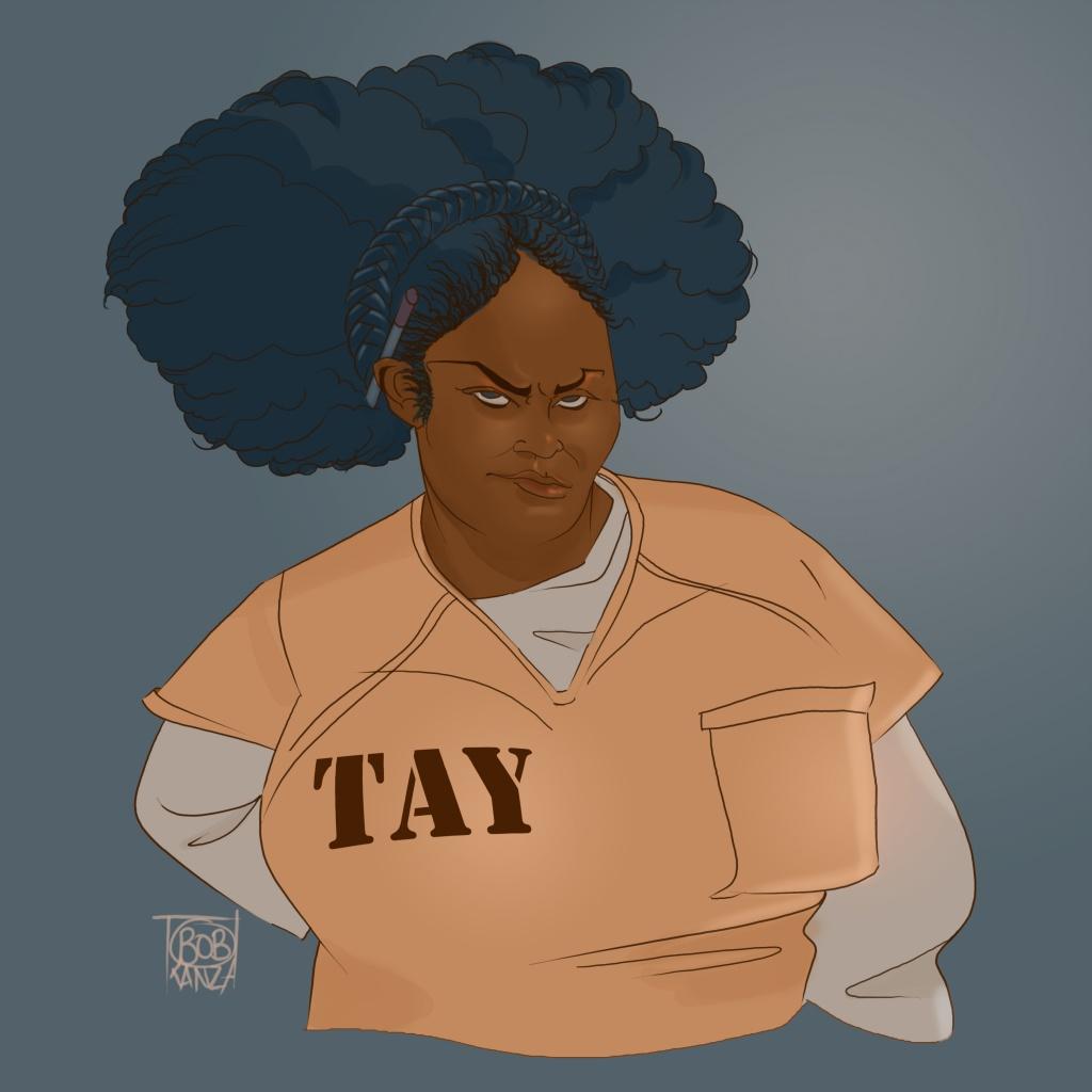 Danielle Brooke - Taystee - Caricature Bob Kanza