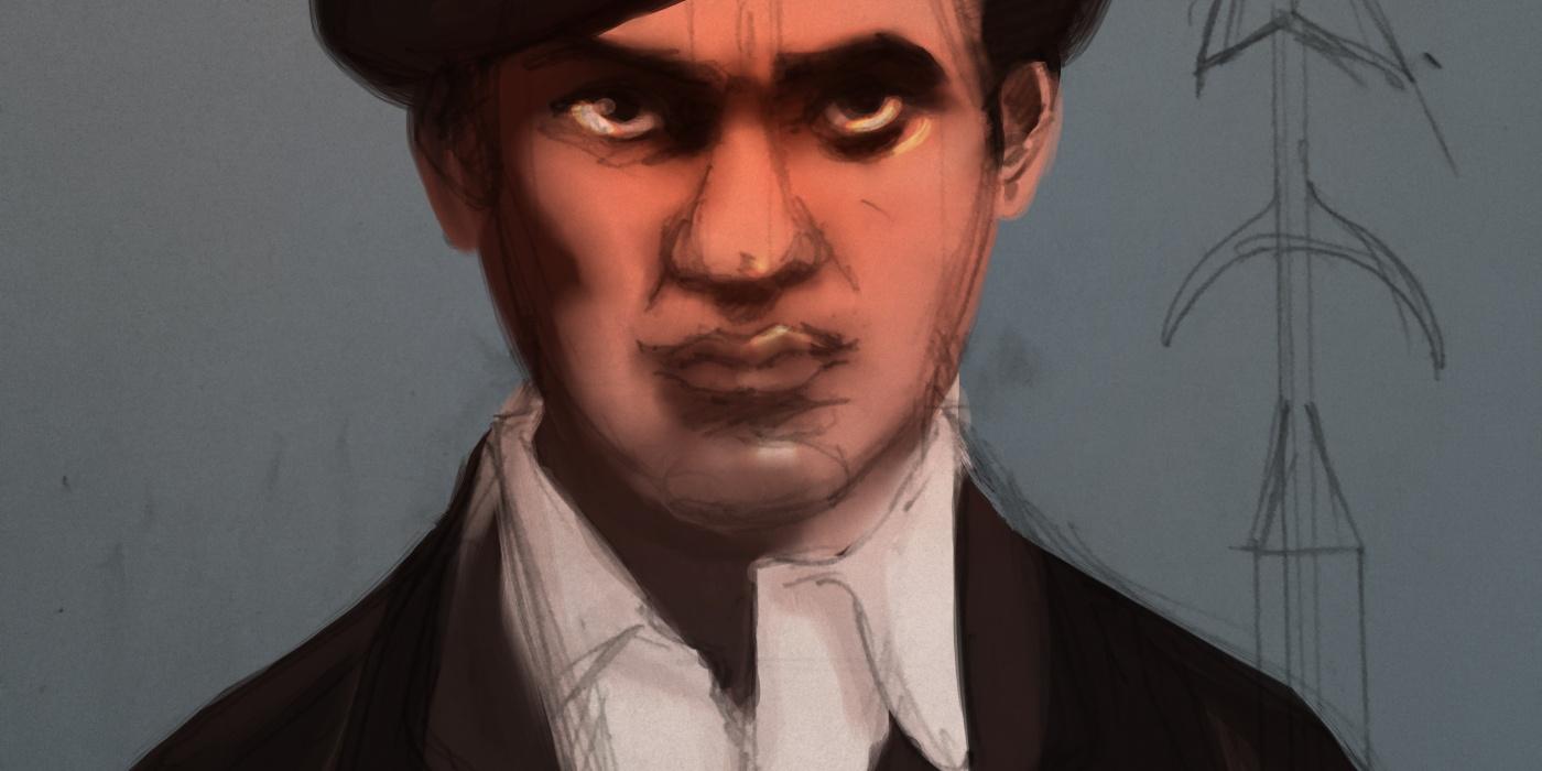 Caricature Huey Newton - Black Panthers