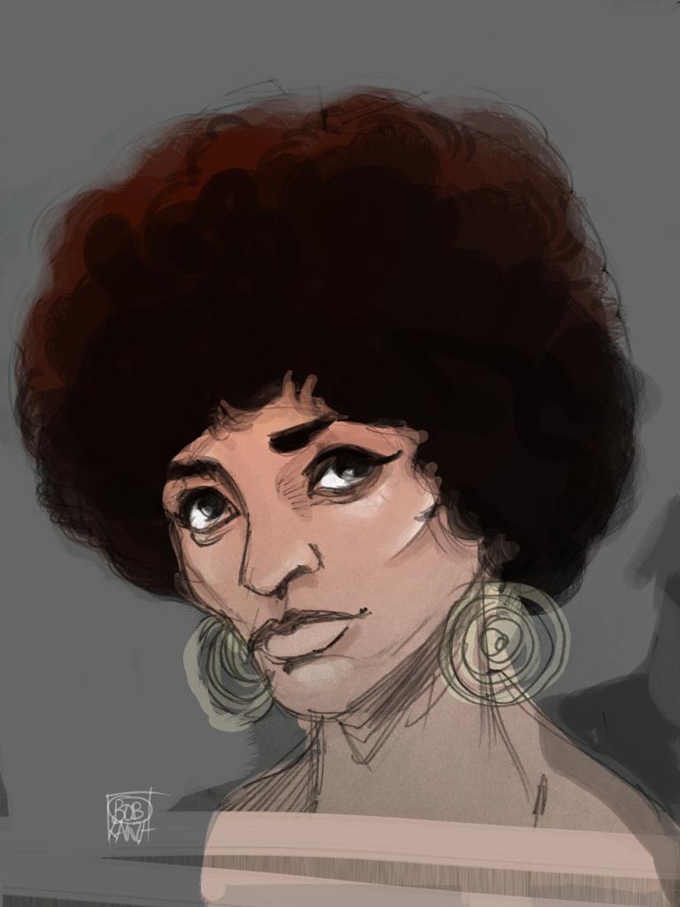Caricature Angela Davis