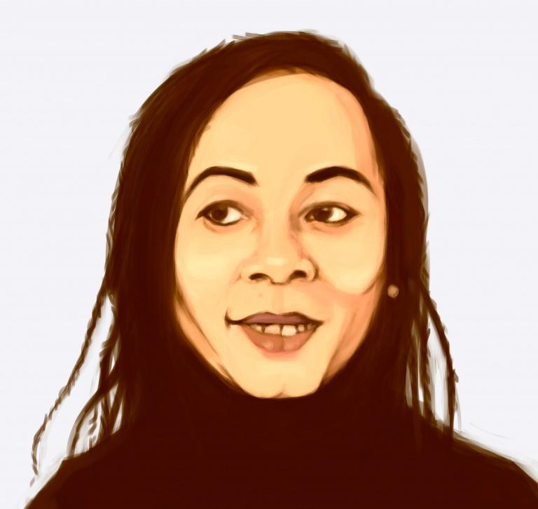 Femme noire nattée