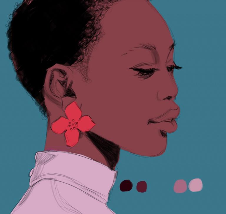 Illustration Femme Noire -Bob Kanza